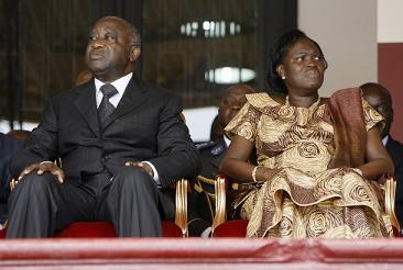 Ivory Coast President Laurent Gbagbo and his wife Simone Ehivet Ggbagbo