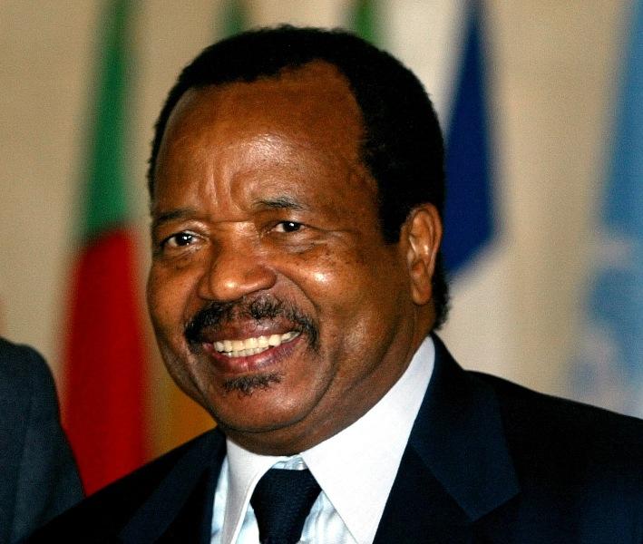 Paul Biya president of Cameroon