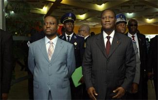Guilliame Soro & Alassane Ouattara