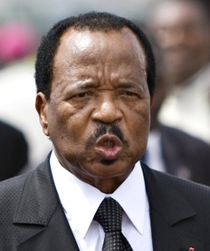 Le président Biya du Cameroun