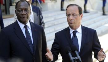 Hollande et Ouattara
