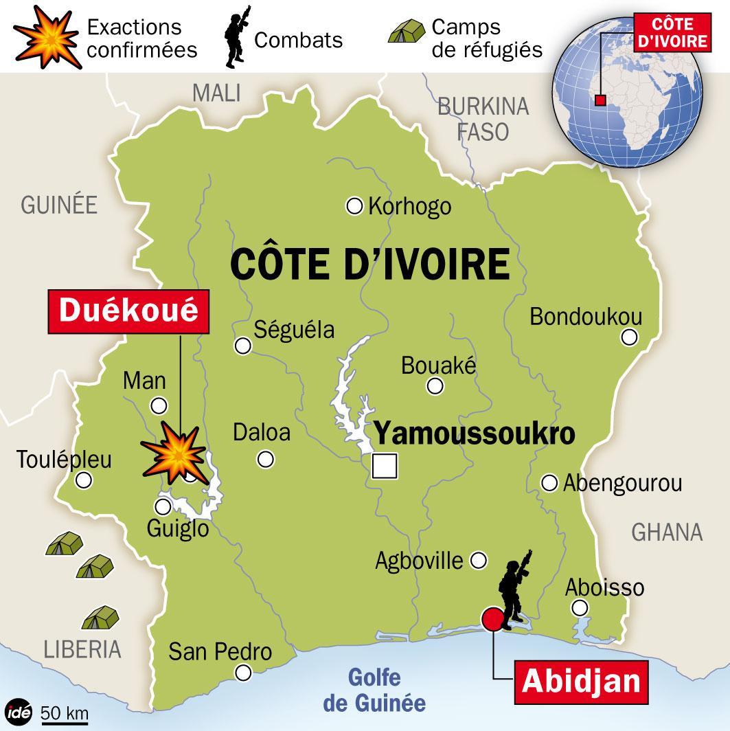 refuge des groupes armés en côte d'ivoire