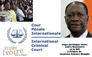 saga juridique entre monsieur Ouattara, le président de la Côte d'Ivoire, et la (CPI