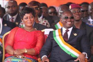 Soro Guillaume et Sylvie Tagro à une cérémonie officielle