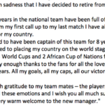 Drogba prend sa retraite internationale