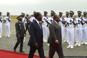 Le président gabonais Ali Bongo en Côte d'Ivoire