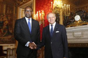 Entretien de Laurent Fabius avec son homologue malien Abdoulaye Diop