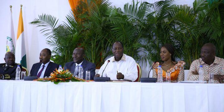 Ouattara a tenu une conférence de presse- bilan à San Pedro