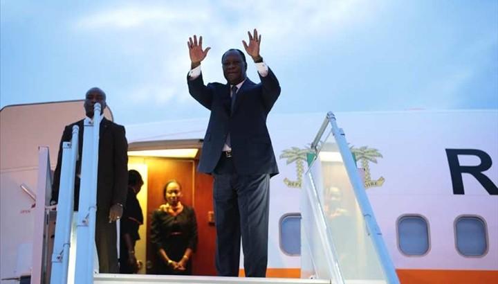 Alassane Ouattara a quitté Abidjan, vendredi, pour l'Afrique du Sud