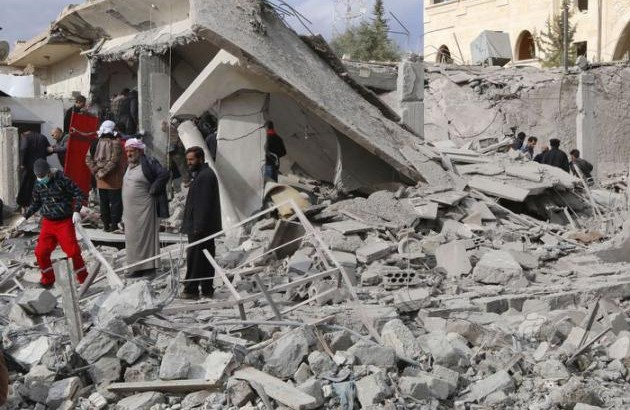 Bombardements Rakka Syrie