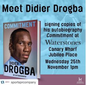 Drogba à Londres pour dédicacer son livre