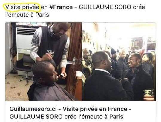 la visite privée de Soro Guillaume, comme annoncée sur son site personnel sera vite transformée en visite officielle