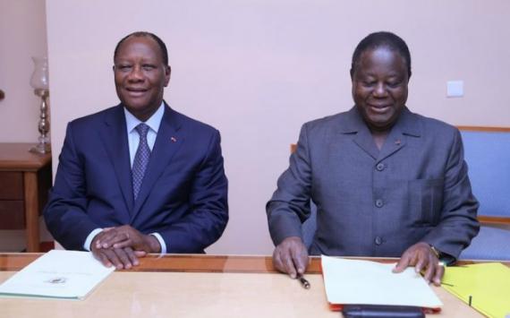 Tête-à-tête Ouattara-Bédié à Daoukro avant l'annonce du nouveau gouvernement
