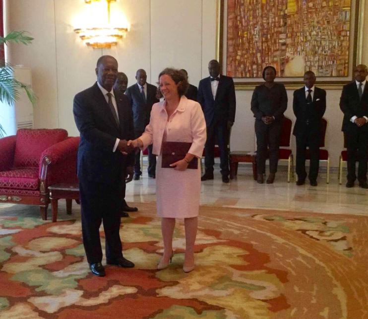 Alassane Ouattara et Robert Johannes Van Den Dool