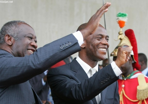 Mamadou Koulibaly et Laurent Gbagbo