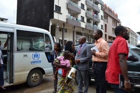 Ivoiriens réfugiés au Ghana et au Togo