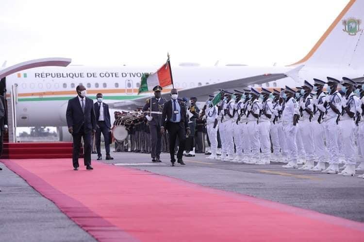 alassane ouattara de retour à Abidjan