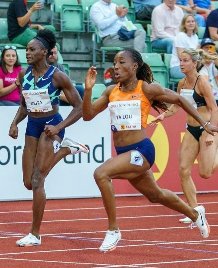ta lou remporte le 100 m feminin a oslo